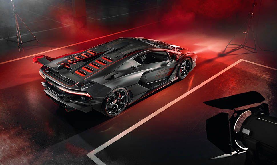 Lamborghini SC 18 Aventador schräg rechts hinten oben versetzt