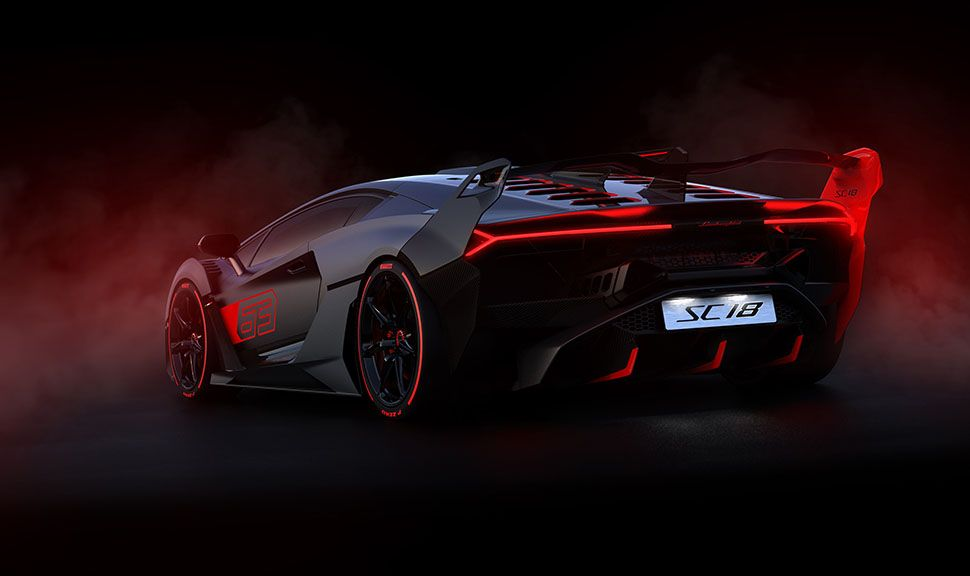 Lamborghini SC 18 Aventador schräg links hinten