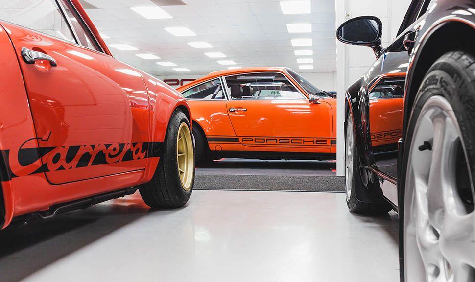 Drei Porsche 911, Detailschnitt