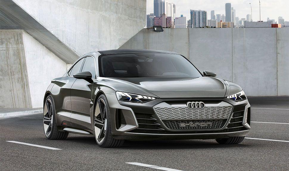 Audi e-tron GT Concept bei der Fahrt