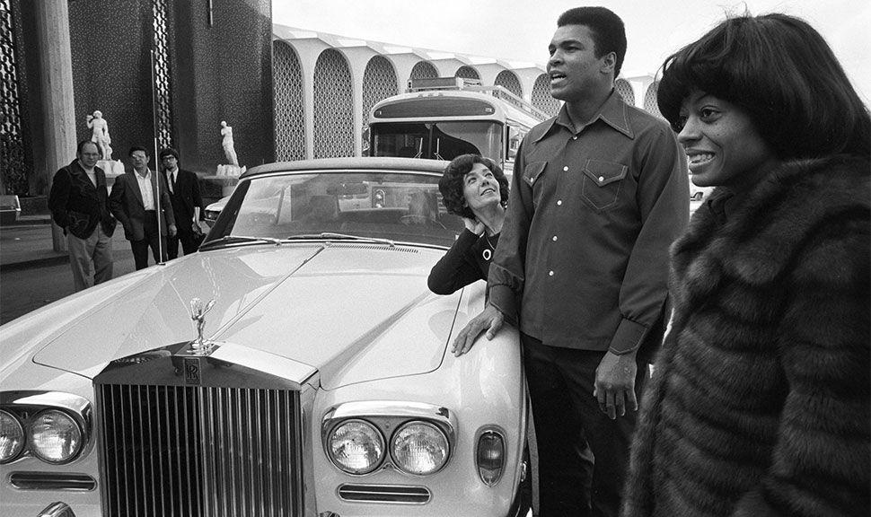 Muhammad Ali mit seinem Rolls-Royce
