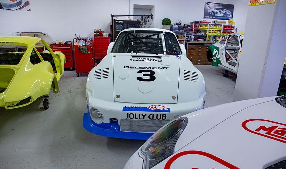 Frontalaufnahme Porsche 935