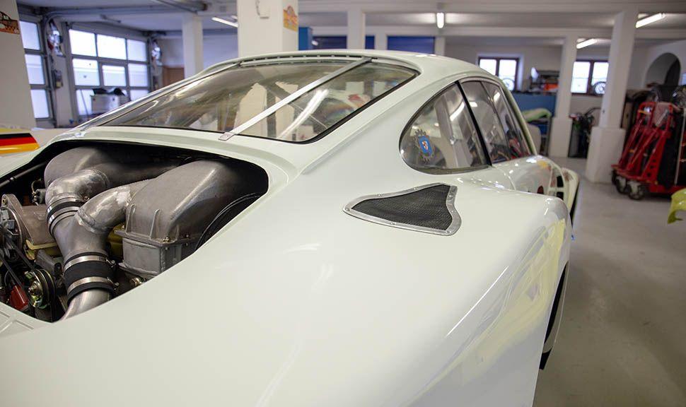 Porsche 935 Detailaufnahme hinterer, rechter Kotflügel
