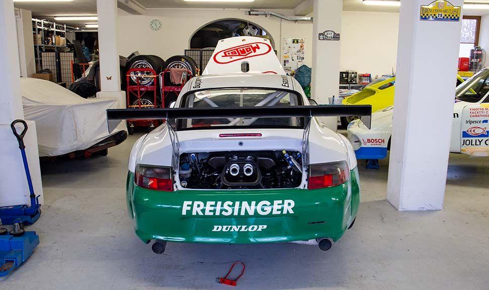 Porsche 996 GT3 RSR Heckansicht