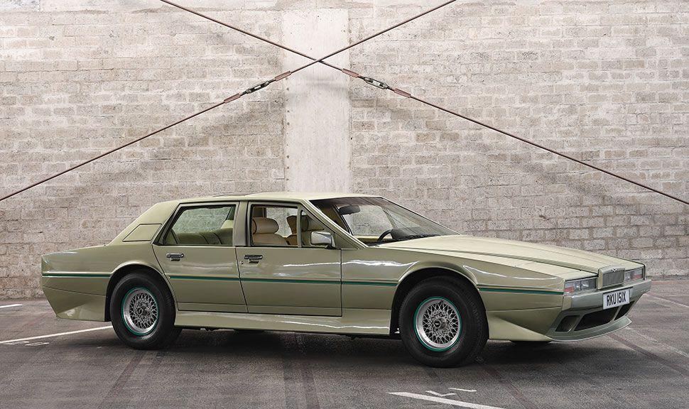 Aston Martin Lagonda in der Seitenansicht