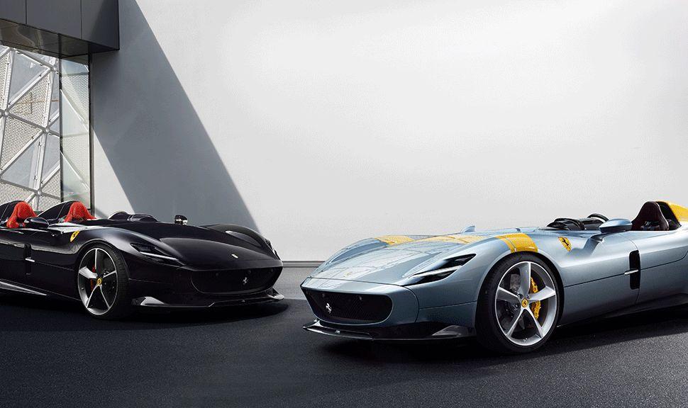 Ferrari SP1 und SP2 in der Seitenansicht