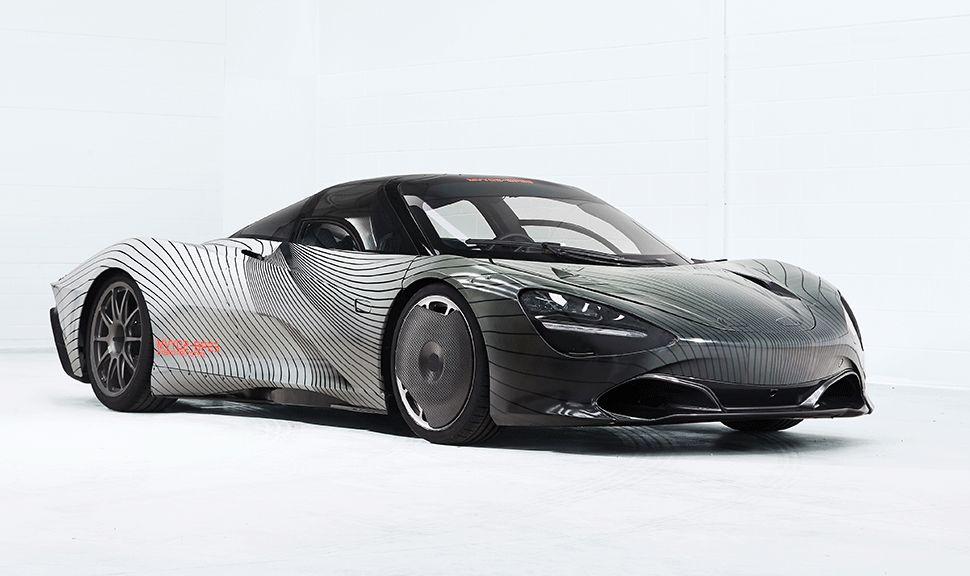 Front und Seite des McLaren Speedtail