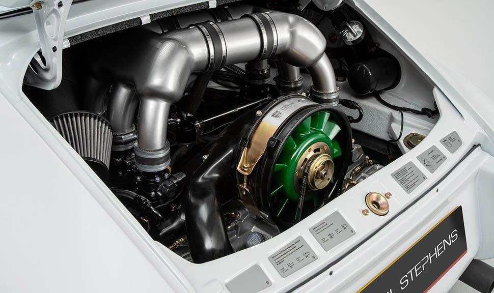Paul Stephens Porsche Le Mans Classic Clubsport Detailaufnahme Motorraum