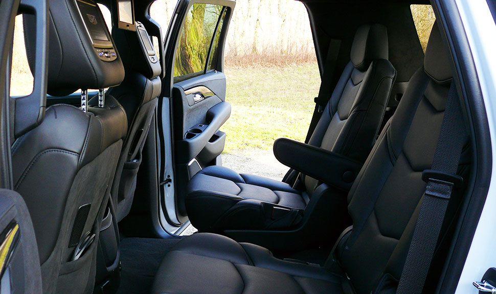 Rücksitze des Cadillac Escalade
