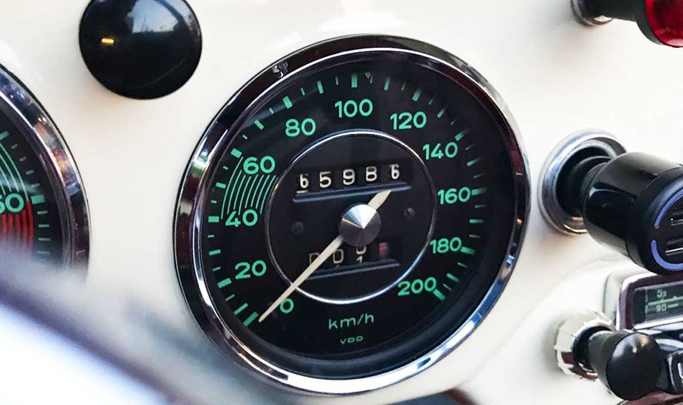 Tacho des Porsche 356 B Cabrio