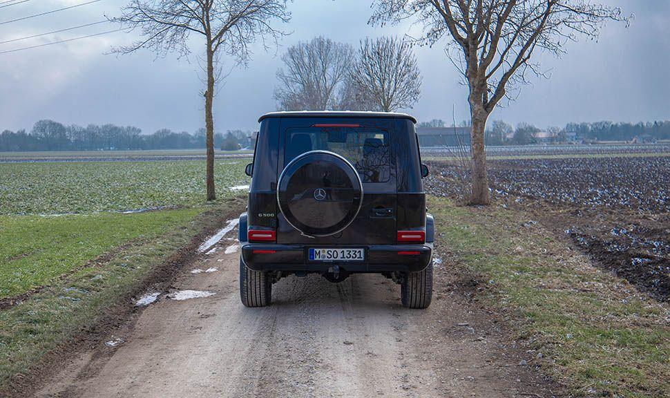 Mercedes G500 von hinten