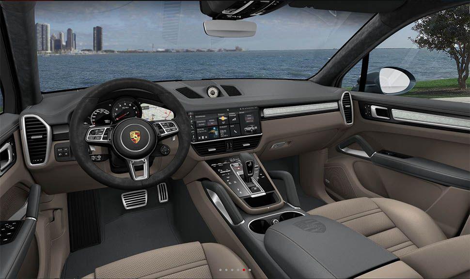 Innenraum des Porsche Cayenne Turbo (Rendering)