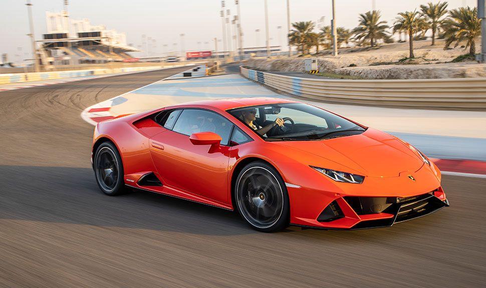 Seitenansicht des Lamborghini Huracan