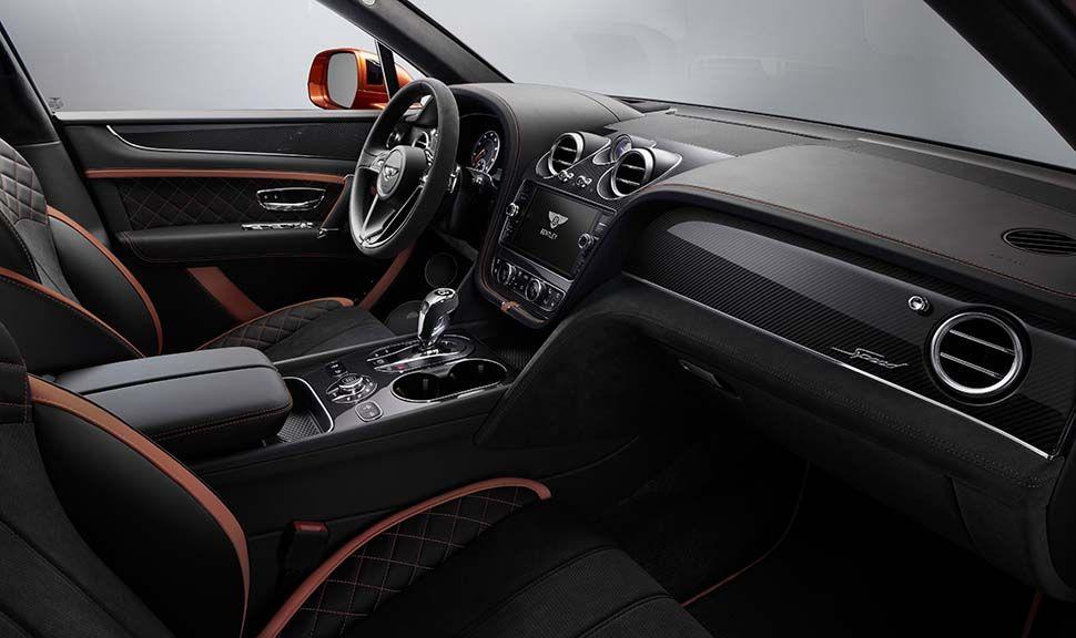 Innenraum des Bentley Bentayga Speed