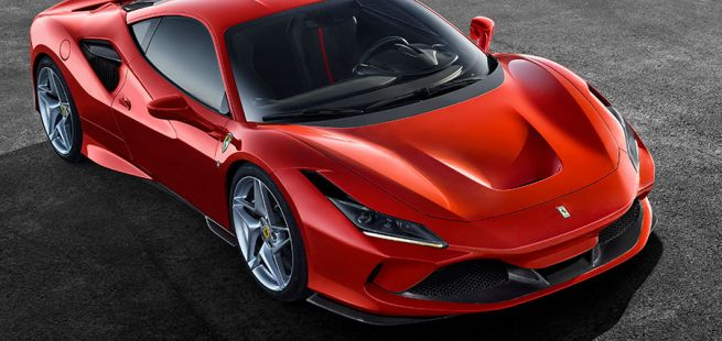 Front und Seite des Ferrari F8 Tributo
