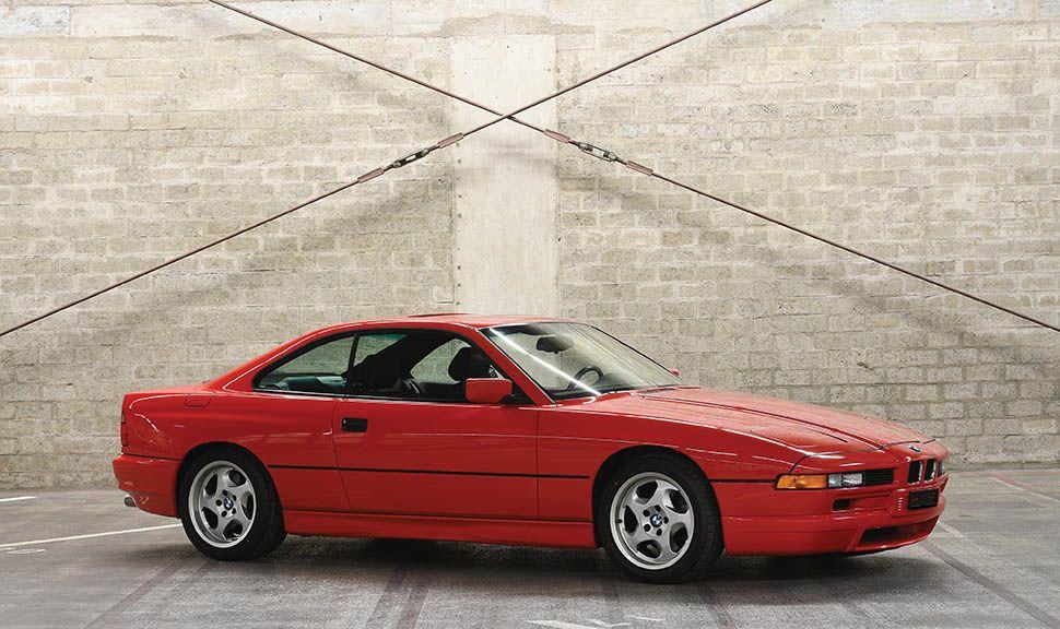 BMW 850 CSi nach vorn versetzte Seitenansicht