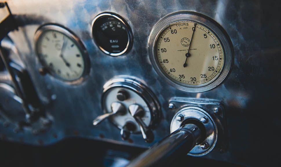Bugatti Typ 51 Grand Prix Instrumententafel