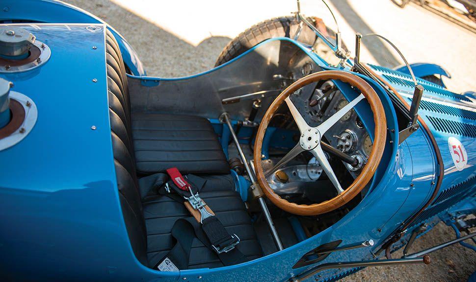 Bugatti Typ 51 Grand Prix Innenraum