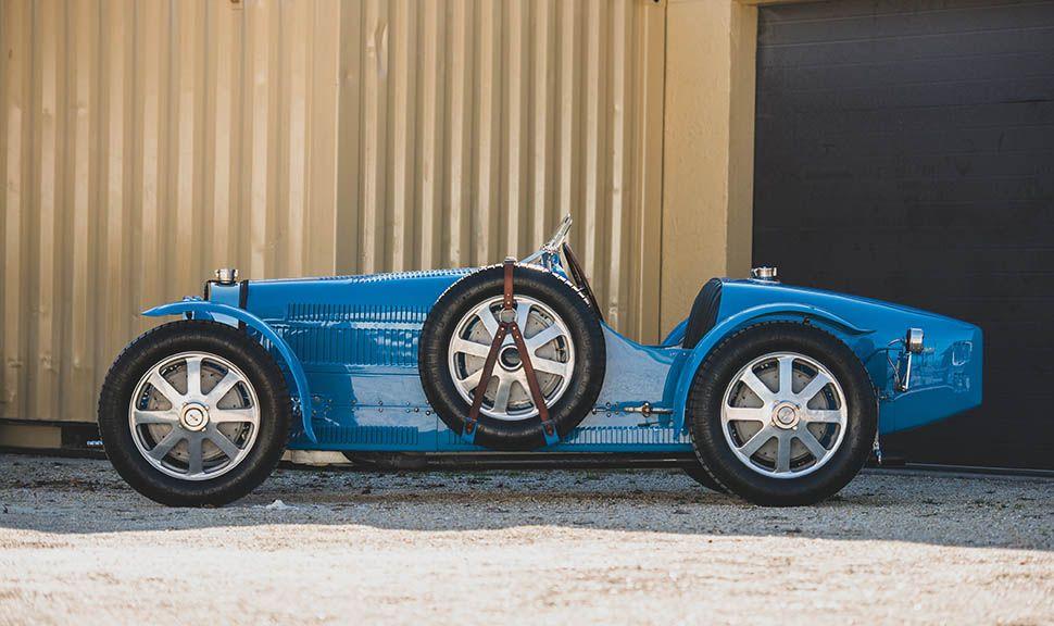 Bugatti Typ 51 Grand Prix Seitenansicht links