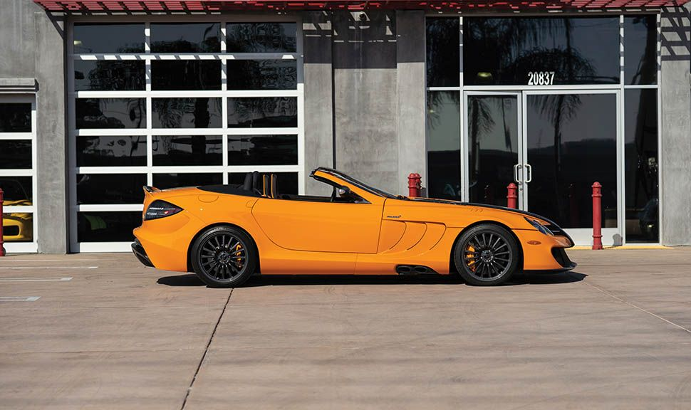 Mercedes-Benz SLR McLaren 722 S McLaren Edition in Orange, Seitenansicht rechts