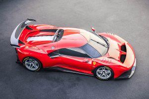 Ferrari P80/C von schräg rechts oben
