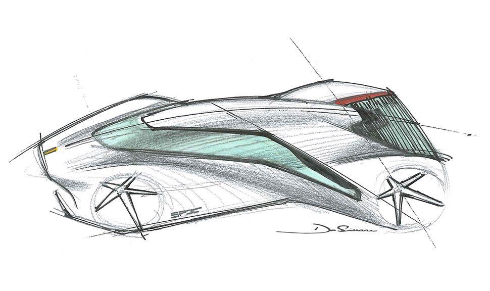 Ferrari P80/C Skizze