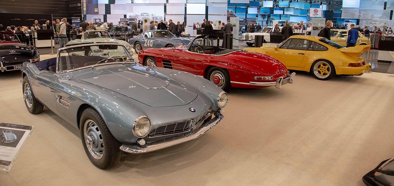 BMW 507, Mercedes-Benz 300 SL Roadster, Porsche 911 auf Techno-Classica 2019