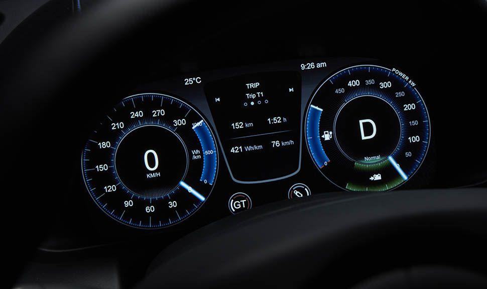 Instrumente des Aston Martin Rapide E