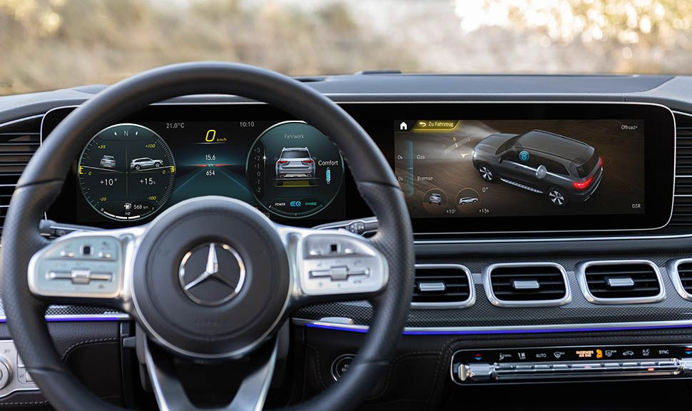 Mercedes-Benz GLS Cockpit mit Instrumenten
