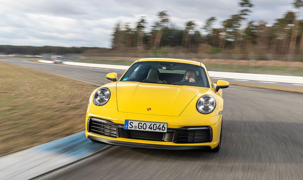 Porsche 911 Front in Gelb