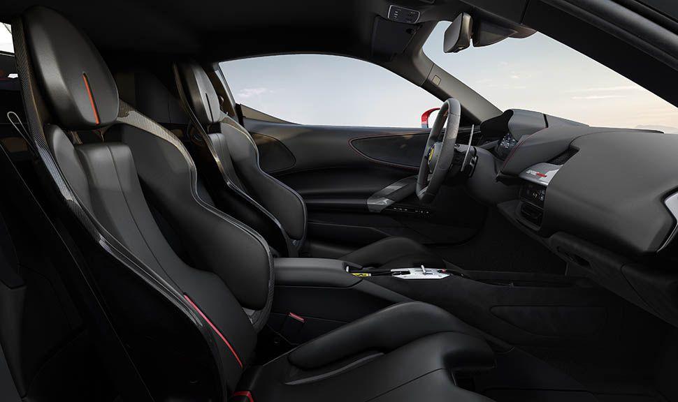 Innenraum des Ferrari SF90 Stradale