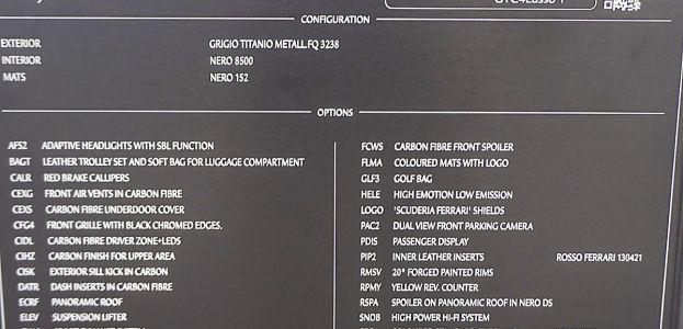 Carbild BeschreibungFerrari GTC4Lusso T8188