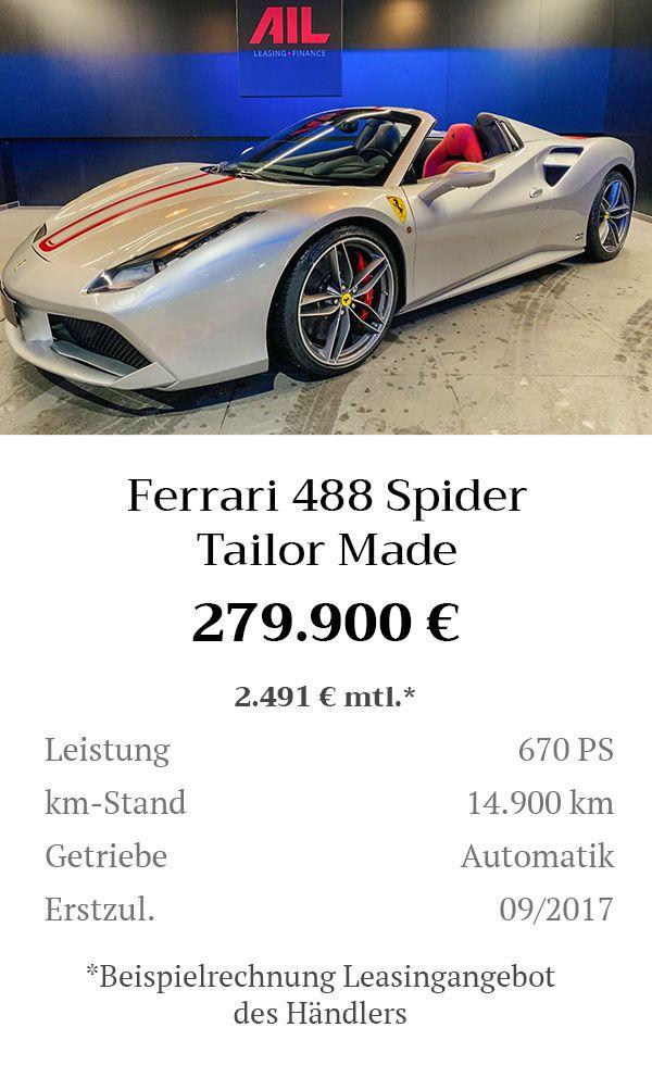 Manual Content Bild Beschreibung Ferrari 488 Spider Tailor Made Inserat 8271