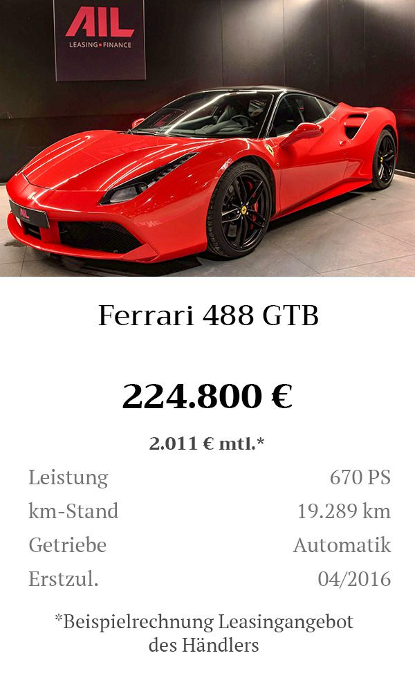 Manual Content Bild Beschreibung Ferrari 488 GTB Rosso Corsa Inserat 8272
