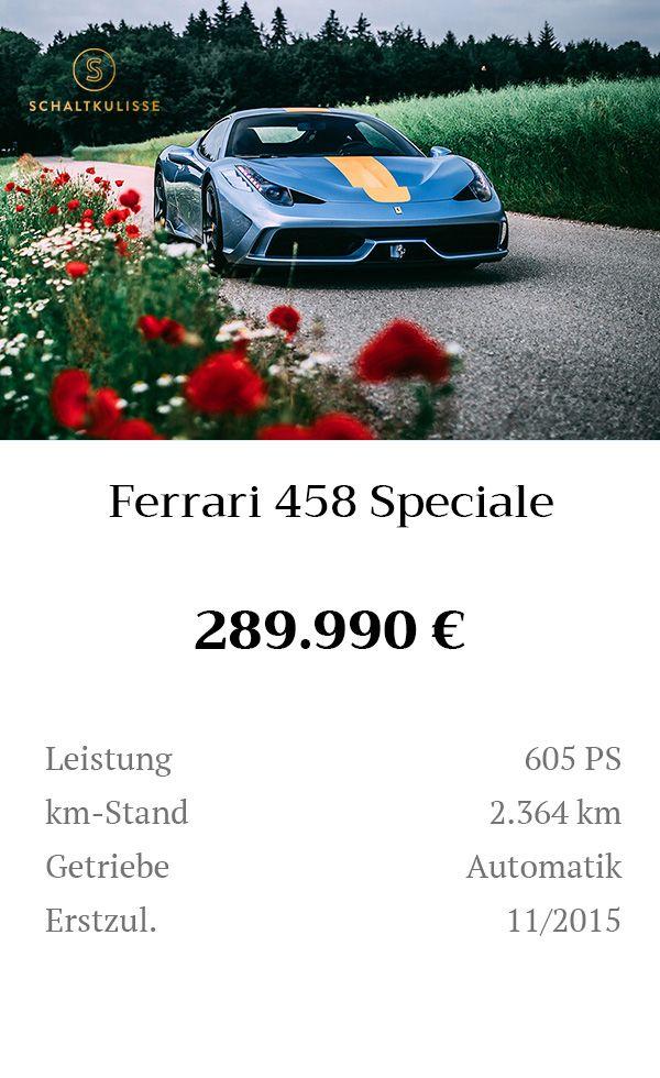 Manual Content Bild Beschreibung Ferrari 458 Speciale Inserat 8274