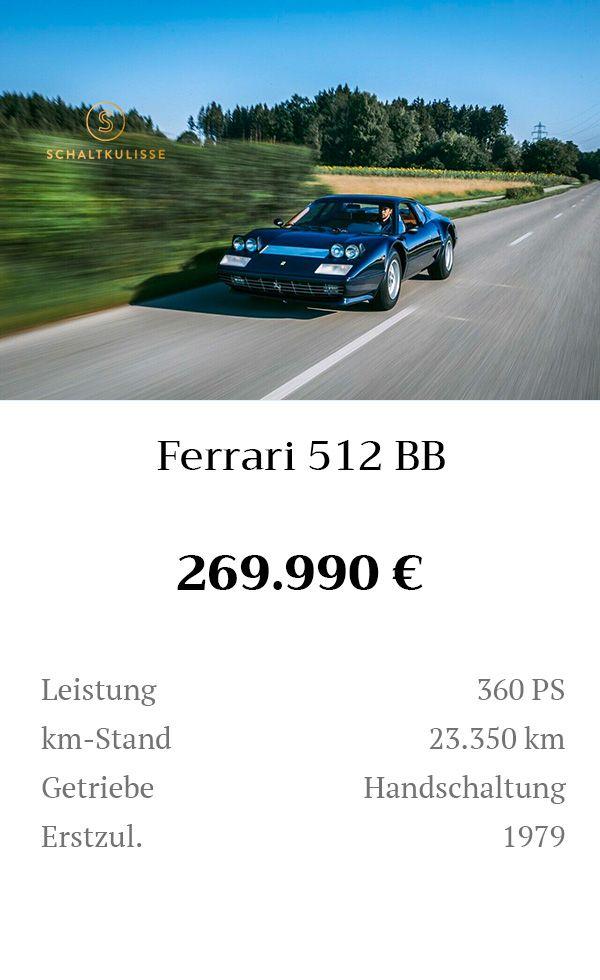 Manual Content Bild Beschreibung Ferrari 512 BB Inserat 8277