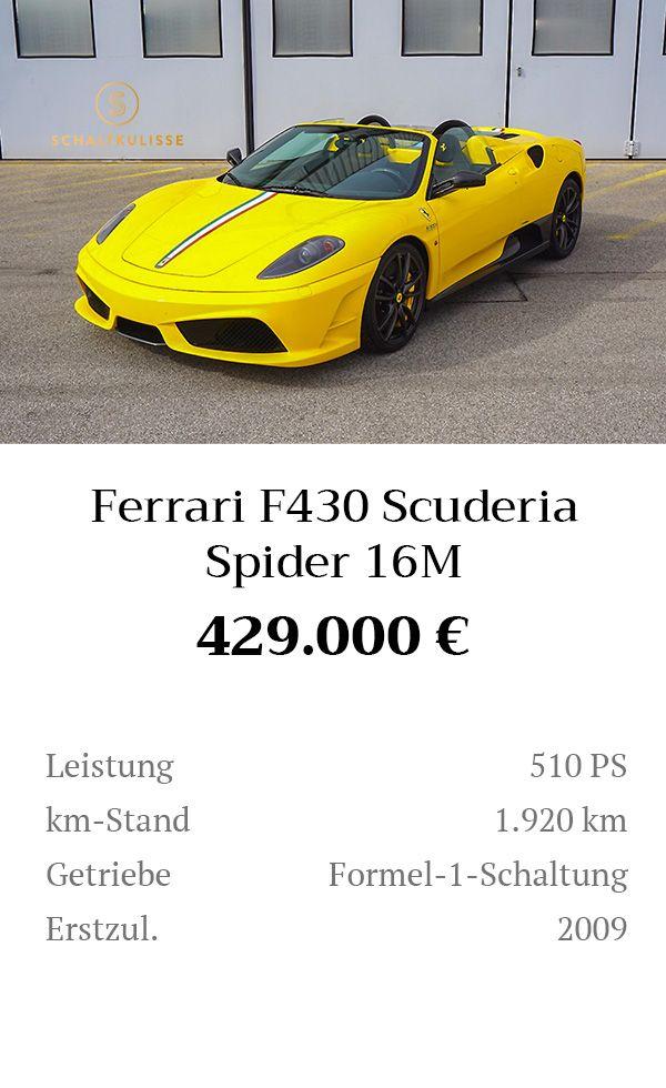 Manual Content Bild Beschreibung Ferrari F430 Scuderia Spider 16M Inserat 8279