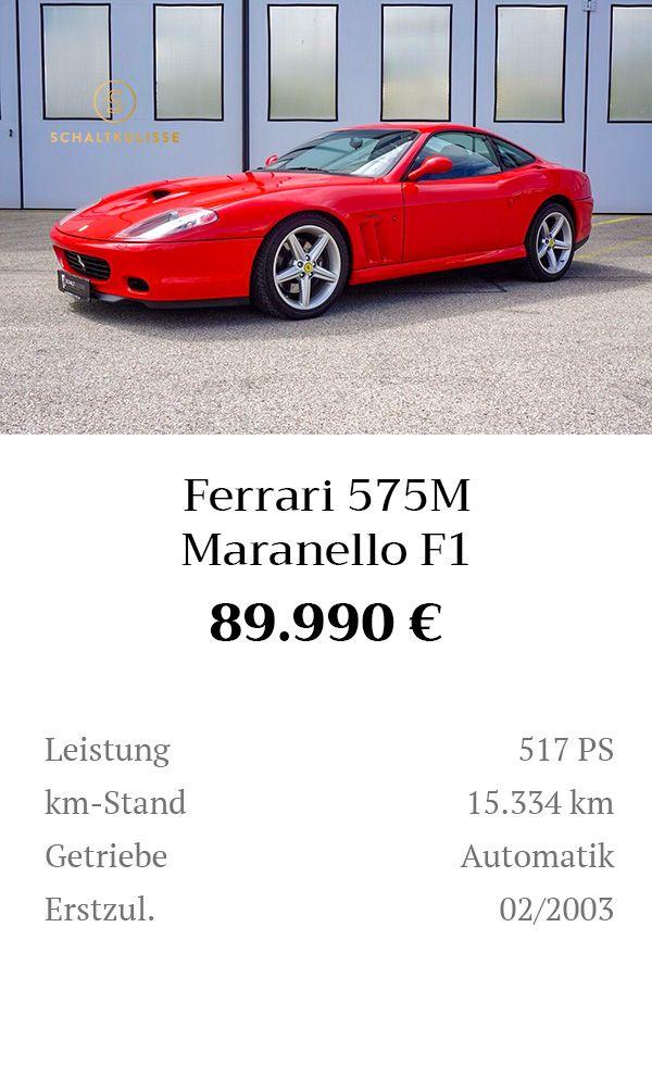 Manual Content Bild Beschreibung Ferrari 575M Maranello F1 Inserat 8280