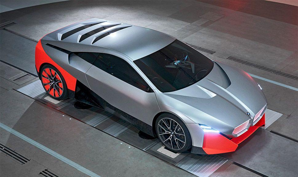 BMW Vision M Next von oben schräg rechts vorne
