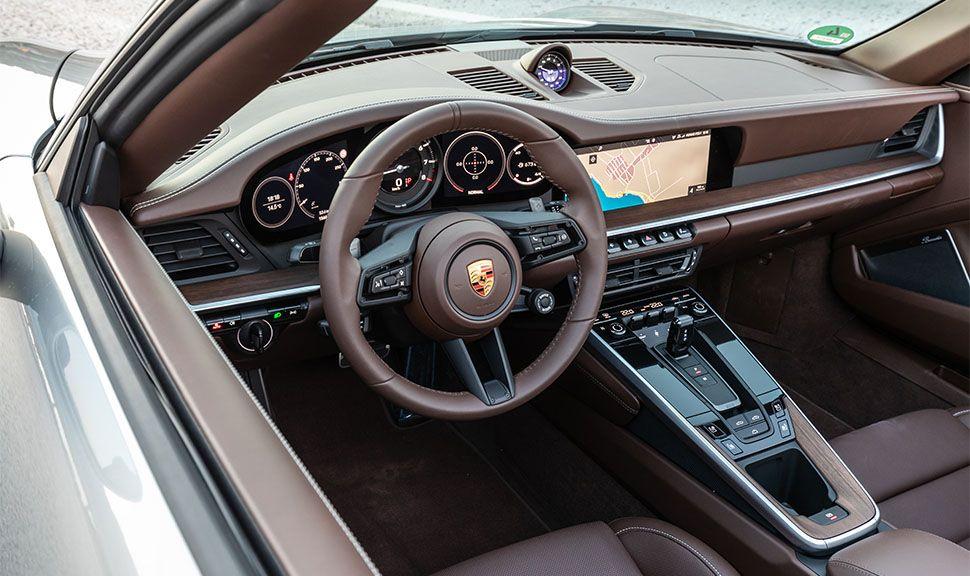 Porsche 911 Carrera S Cabrio Blick in den Innenraum