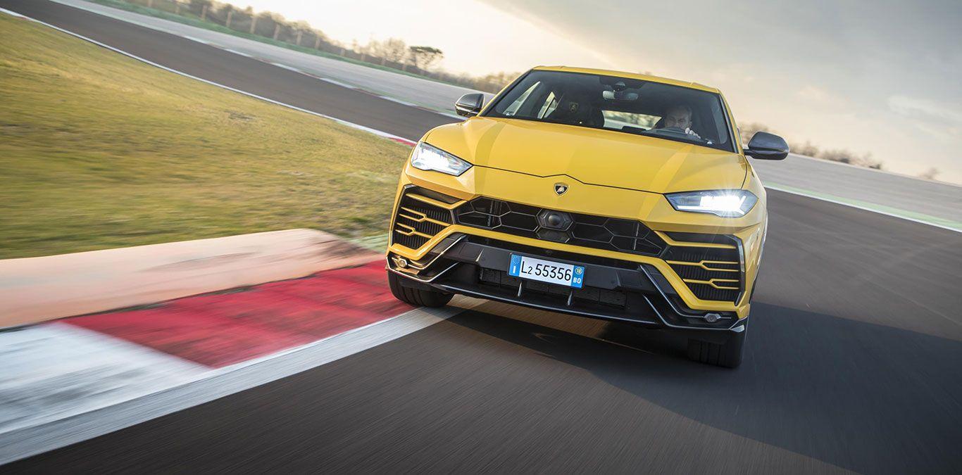 Lamborghini Urus auf der Rennstrecke