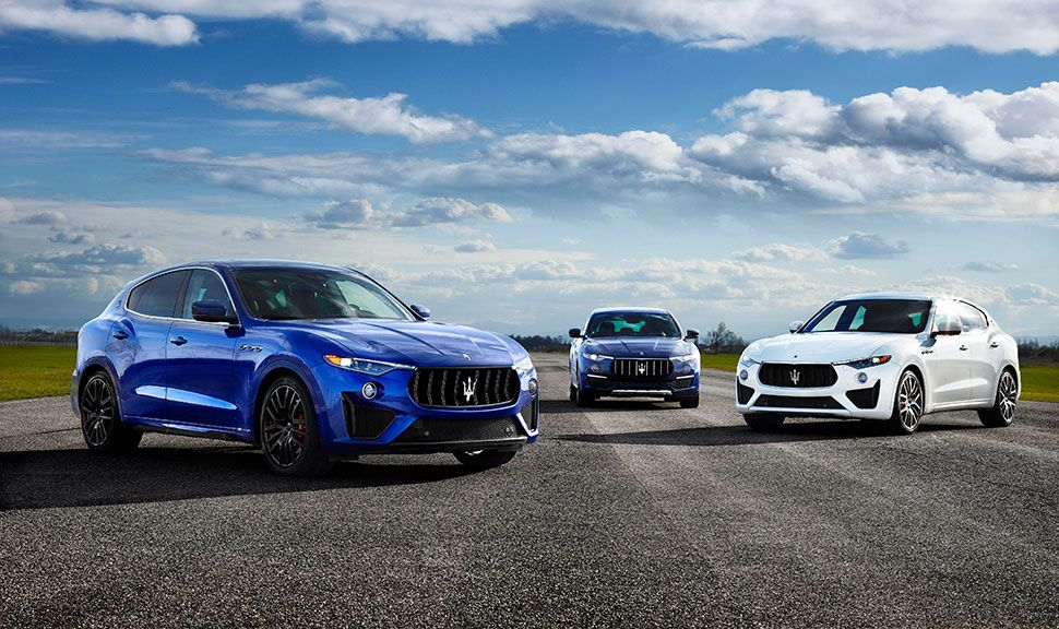 Maserati Levante Ausstattungslinien nebeneinander