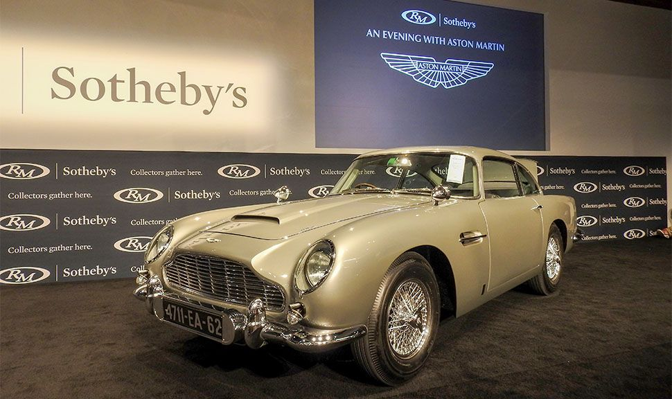 Aston Martin DB5 aus den James Bond Filmen Goldfinger und Feuerball