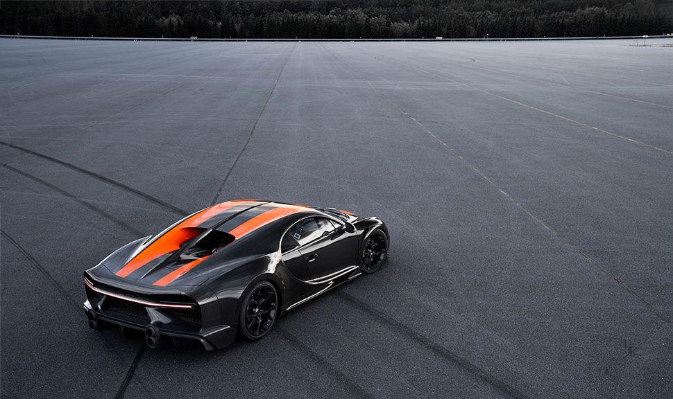 Bugatti Chiron Super Sport 300+ schräg rechts hinten oben