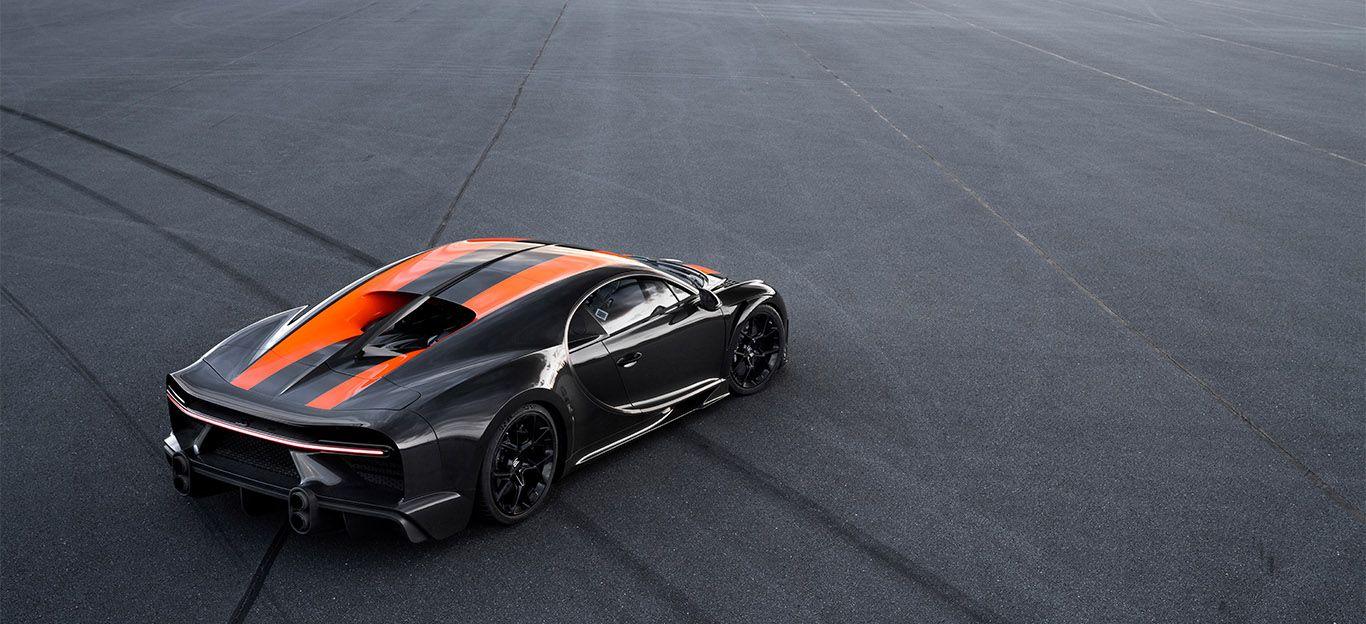 Bugatti Chiron Super Sport 300+ von schräg rechts hinten oben