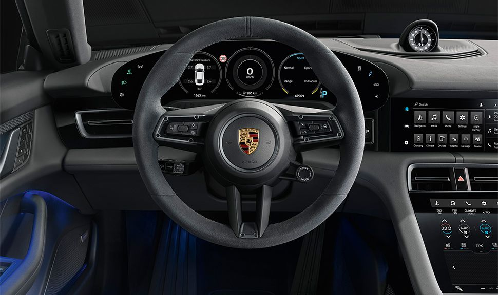 Porsche Taycan 4S Lenkrad