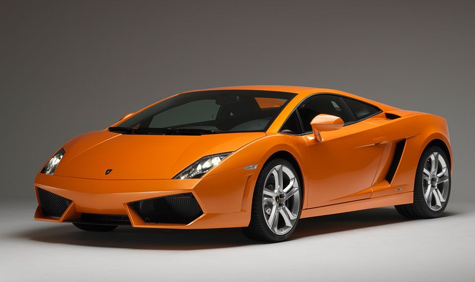 Lamborghini Gallardo in Orange von schräg links vorne