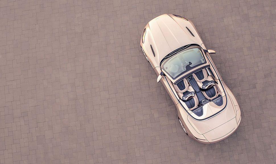 Aston Martin DB11 Volante von oben