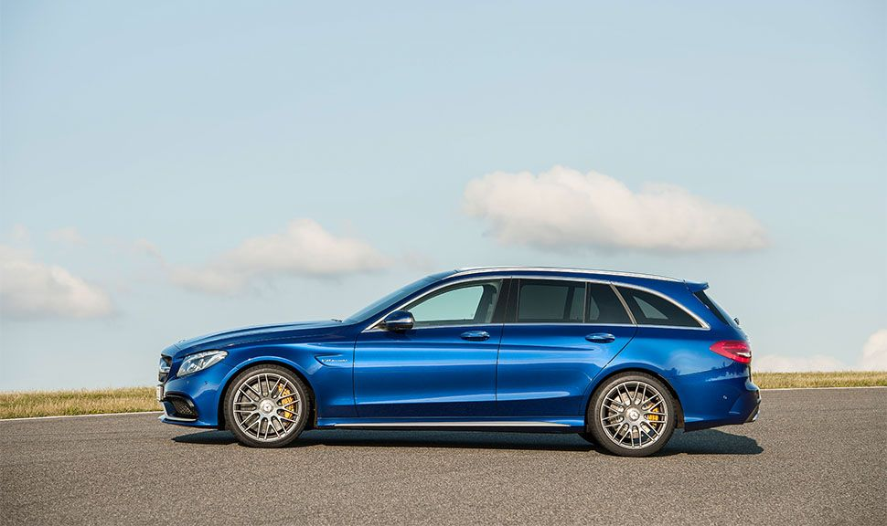 Mercedes-AMG C 63 T-Modell von links