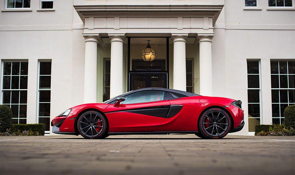McLaren 570S in Rot von der linken Seite